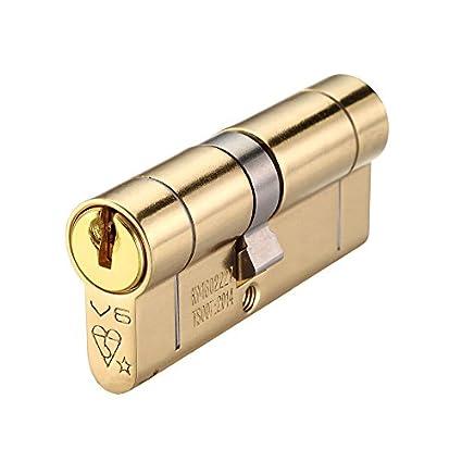 Euro Perfil Doble Cerradura de cilindro de alta seguridad – protector de puerta 103 mm (