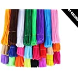 HoneyToys 240pcs 24 Colors Creative Pipe Cleaners Chenille Stem 12 Inches x 6 mm,Pipe Cleaners for Arts and Crafts