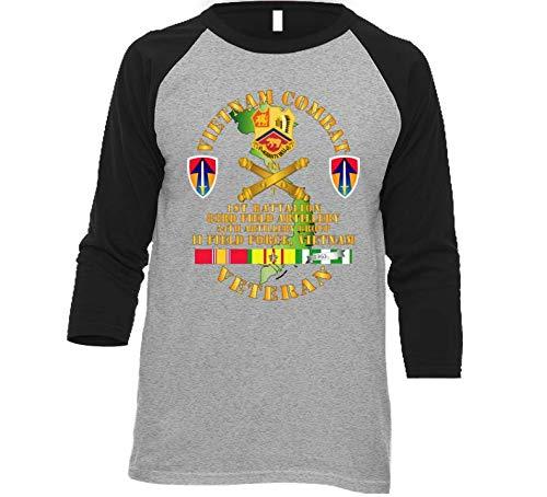 XLARGE - Army - Vietnam Combat Veteran W 1st Bn 83rd Fa W Ii Field Force Baseball Raglan - - Field Raglan