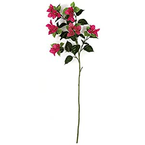 "SilksAreForever 45"" UV-Proof Outdoor Artificial Bougainvillea Flower Spray -Beauty (Pack of 6) 90"