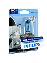 Philips 9003 CrystalVision Ultra Upgrade Bright White Headlight Bulb