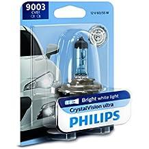 Philips 9003 CrystalVision Ultra Upgrade Headlight Bulb, 1 Pack