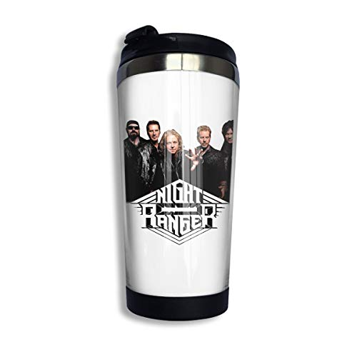 KGOISG Night Ranger Coffee Cup Stainless Steel Water Bottle Cup Travel Mug Coffee Tumbler with Spill Proof Lid