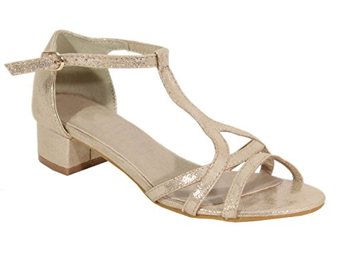 para Gold Shoes Sandalias Mujer by 6SZwzYq6