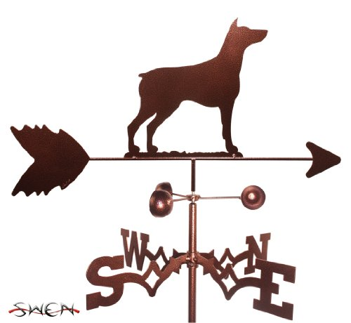 SWEN Products Hand Made Doberman Pinscher Dog Side Mount Weathervane ~New~