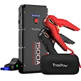 Car Jump Starter, 1500A Peak Trekpow By ABOX 12V Auto Battery Booster Box(Up to 8.0L Gasoline/6.5L Diesel Engine) with Smart Jumper Cable, Portable Power Pack Quick-Charge, Type-C Port, LED Light