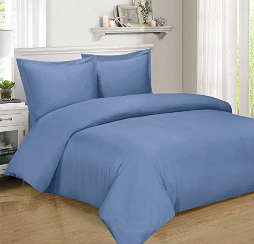 Royal Hotel BAMBOO Duvet Cover 100% BAMBOO Viscose Comforter Cover - Duvet Cover Set with Corner Ties and Button Closer, Full/Queen size Periwinkle