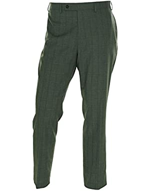 Calvin Klein Mens Slim Fit Glen Plaid Dress Pants