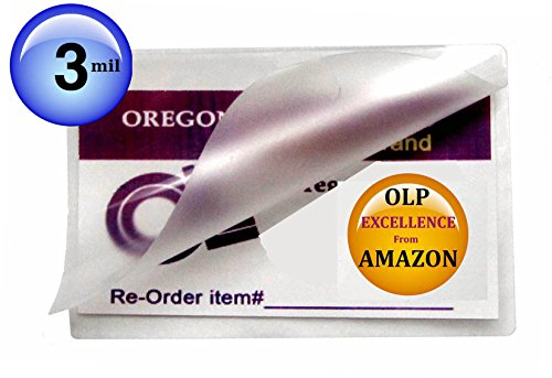 Qty 500 Prayer Card Laminating Pouches 2-3/4 x 4-1/2 Hot Laminator Sleeves 3 Mil by Oregon Lamination Premium