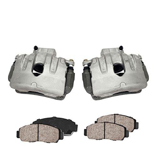 Callahan CCK03582 FRONT Premium Loaded OE Caliper Pair + Ceramic Brake Pads + Hardware Kit