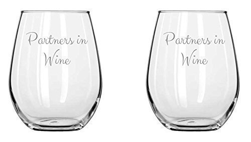 Anniversary Gifts – Partners in Wine – Set – Couples Gifts -Mothers Day – Birthday Gift for – Best Friend – Mom – boyfriend – Graduation