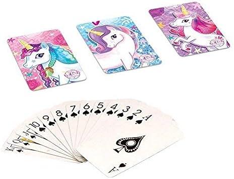 HENBRANDT Unicorn Mini Carte da Gioco Confezione da 8/Pezzi Accessori per Buste Regalo//favori