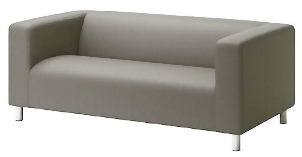 The Cotton Klippan Loveseat Cotton Cover Replacement Is Custom Made for Ikea Klippan Loveseat Slipcover, A Sofa Cover Replacement. Cover Only! (Cotton Gray)