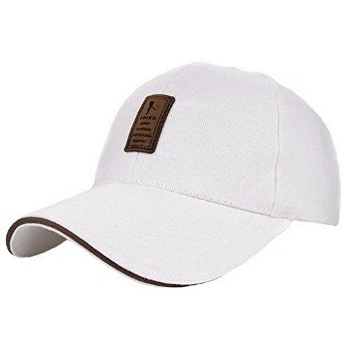 Gorras Sólido Ocio 4 UKERDO Béisbol Algodón Sombreros Ajustable Deporte Hombre Equipado UwzqAPzna