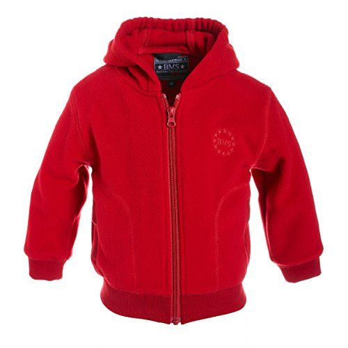 BMS Kids Antarctic Fleece College Jacke, Rot, Größe 86