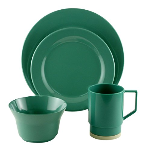 Galleyware Seafoam 24 Piece Melamine Dinnerware Set