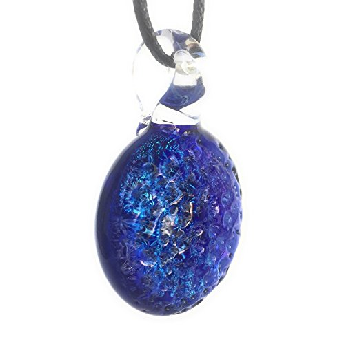 Striped Cobalt Dichroic Glass Pendant Striped Dichroic Glass