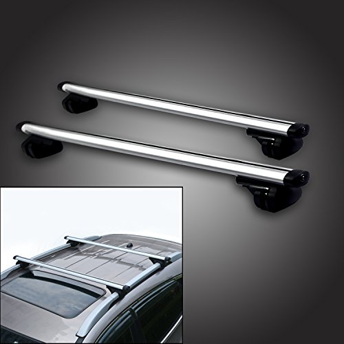 53'' Locking Roof Rack Universal Cross bars, Anti-thief Lock Car luggage Top Adjustable Clamps Lockable Universal Silver Aluminum Roof shelves Basket Luggage box Bars Truck SUV (54''L x 13.4''W x 3.35''H) by 5A-Parts