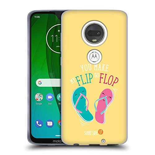 Official Muy Pop Flipflop Sunny Side Up Summer Soft Gel Case for Motorola Moto G7