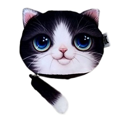 COMVIP Katze Muster Geld Tasche Schüttelbörse Kleingeldbörse Geldbörse Kleingeldbeutel 08 Gelb Katze 08 Violett Katze