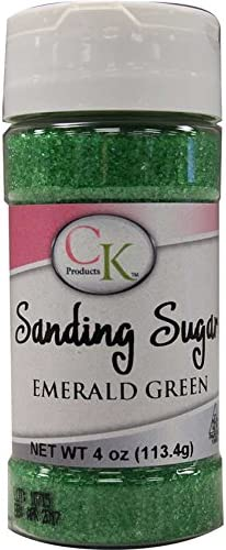 Coral Edible Sanding Sugar 4 oz bottle of Coral Sanding Sugar For Cookies and Cakes