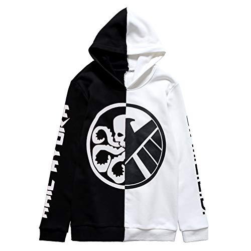 YOURNELO Unisex Super Heroes Color Block Fleece Lined Hoodie Zip Sweatshirt Jumper (Agents of Shield, L)