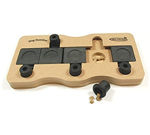 Nina Ottosson Dog Domino Interactive Doy Toy Puzzle for Dogs, Wood - Turbo Twister Slide
