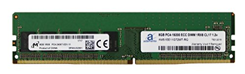 Memory Ecc Server Gb (Micron Original 8GB (1x8GB) Server Memory Upgrade for Dell Poweredge T30 DDR4 2400MHz PC4-19200 ECC Unbuffered 1Rx8 CL17 1.2v DRAM RAM Adamanta)