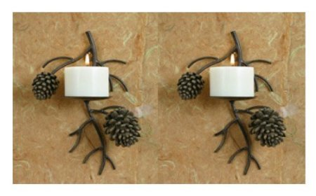 pine cone kitchen accessories set of two pinecone pine cone candle wall sconce lodge 4223