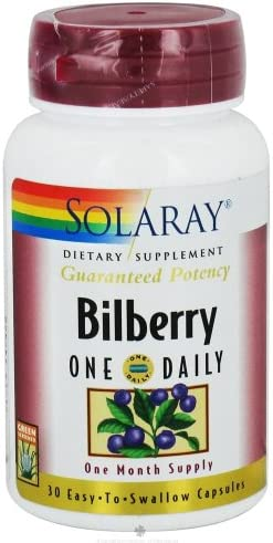 Solaray – Bilberry One Daily, 160 mg, 30 capsules