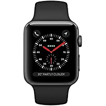 Apple Watch Series 3 42mm Smartwatch (GPS + Cellular, Space Gray Aluminum Case, Black Sport Band) (Certified Refurbished)