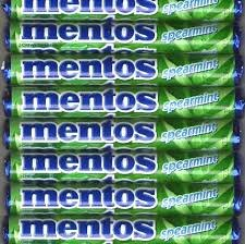 - 10 Rolls of Mentos Spearmint Candy