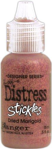 Signature Series Distress Stickles Glitter Glue 1/2-Ounce, Dried Marigold