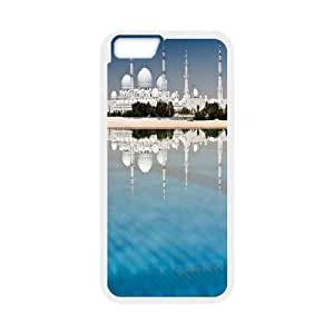 IPhone 6 Plus Case Sheikh Zayed Grand Mosque Cheap for Girls, Iphone 6 Plus Case Jumphigh, [White]