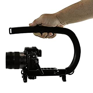 Cam Caddie Original Scorpion Video Camera Stabilizer Handle for Nikon, Canon, JVC, Toshiba, Sony, Olympus, Pentax, Apple iPhone, GoPro Hero 4, Hero 3+, Hero 3 and More - Black (0CC-0100-00) (B001G46102) | Amazon price tracker / tracking, Amazon price history charts, Amazon price watches, Amazon price drop alerts
