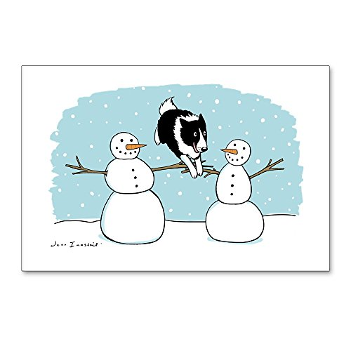 CafePress - Border Collie Holiday - Postcards (Package of 8), 6