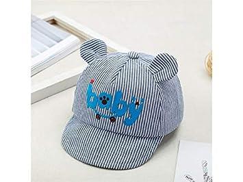 Yyanliii Linda Baby Stripe Gorra de béisbol para niños al Aire Libre Anti-UV Sun Visor Sweat Sun Hat por 5-20 Meses: Amazon.es: Deportes y aire libre