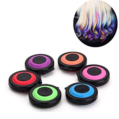 Temporary 6 Colors Hair Chalk Set Kids Hair Dye Color without Glove Hair Chalk Salon for Girls, Kids - Hair Color Toy for Halloween, Cosplay, Crazy Hair Day Washable