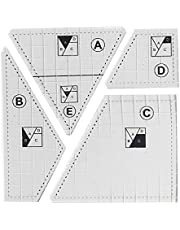 Creative Quilting Cutting Template Grids Crazier Eights Template 3/4/5Pcs Set Quilt Ruler Set ,Borders & Patterns Variety of Stencil for Machine Sewing and Free Motion Quilters
