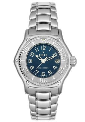 Ebel Discovery Blue Dial Stainless Steel Ladies Watch