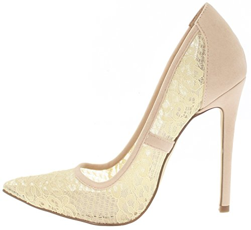 Sheer Toe Nude Geno Pumps Shoe Pointed Republic Lace 5AqZP