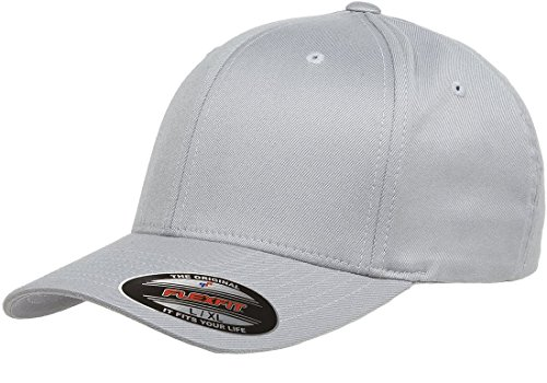 6277 Flexfit Wooly Combed Twill Cap - Small/Medium (Silver)