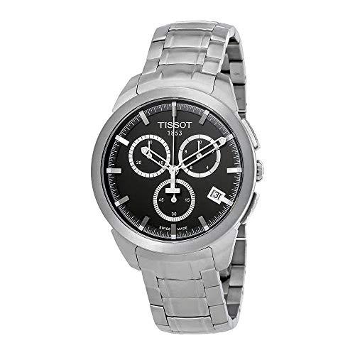 (Tissot Men's T0694174406100 Quartz Titanium Grey Dial Chronograph Watch)
