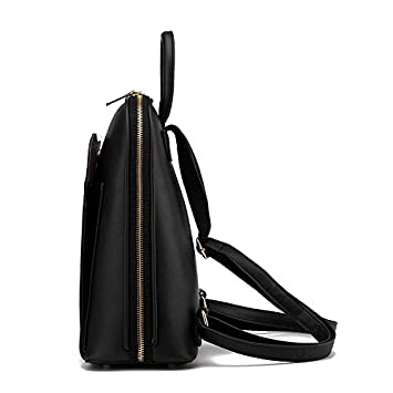a5a56e44e776a9 Black Women Leather Backpack Women School Bags Satchel Travel Bag Ladies  Backpack For Women Bag