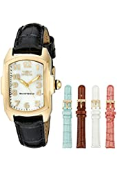 """Invicta Women's 13834 """"Lupah"""" 18k Gold-Plated Stainless Steel Mother-Of-Pearl Dial Watch"""