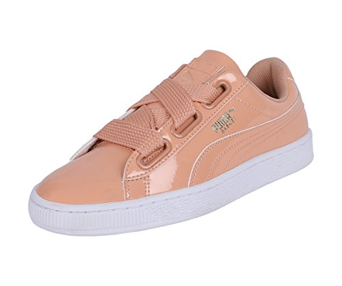 de Peach Sneakers Top Low Heart mujer Puma Canasta Patent WN's HZd1Hx