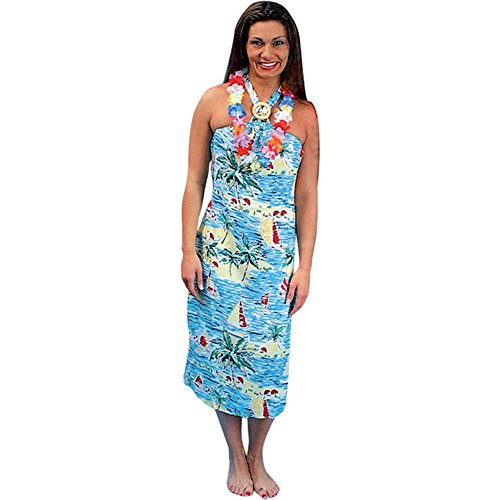 [Adult's Hawaiian Girl Halloween Costume (Size: Standard 8-12)] (Hawaiian Costumes For Adults)