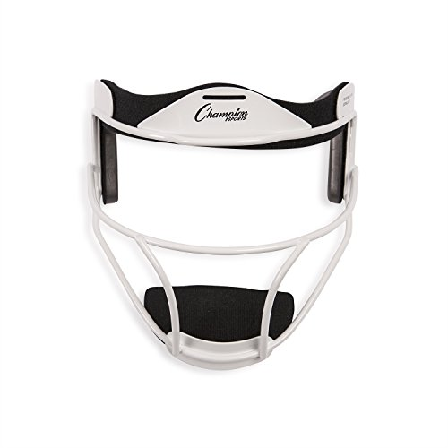 Champion Sports Adult Softball Fielder's Face Mask, White