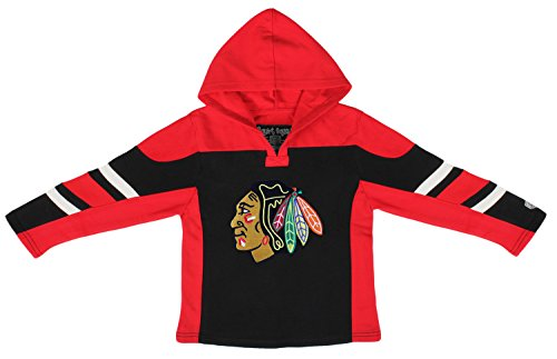 Old Time Gear Hockey (Old Time Hockey NHL Chicago Blackhawks Toddler Drift Pullover Hoodie, 3T, Black)