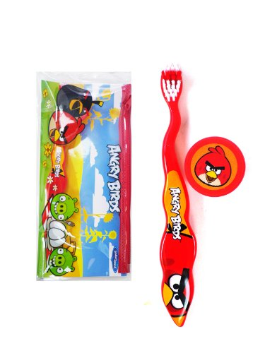 Red Angry Bird Travel Toothbrush Kit - Angry Birds Toothbrush by Rovio 4SG